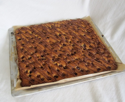 Cherry And Mint Chocolate Tray Bake