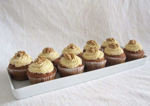 Coffee Cream And Walnut Cupcakes