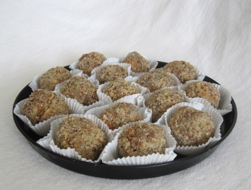 Hazelnut And Courgette Balls